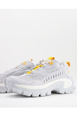 Cat Footwear Caterpillar intruder vent sneakers in with orange trim