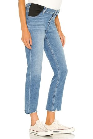 Paige Women Skinny - Cindy Maternity Jean With Elastic Waistband in Blue.