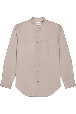 Five Four Meyer Cotton Twill Overshirt in Grey.