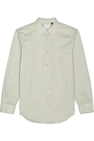 Five Four Men Casual - Meyer Cotton Twill Overshirt in Sage.