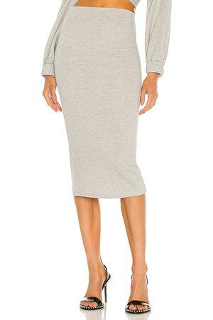 Michael Costello Women Midi Skirts - X REVOLVE Axel Midi Skirt in Light Grey.
