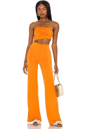 House of Harlow X Sofia Richie Sosa Jumpsuit in Burnt .
