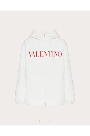 VALENTINO Men Coats - Cotton And Viscose Pea Coat With Camouwhite Print Man Viscose 36%, Cotton 64% 46