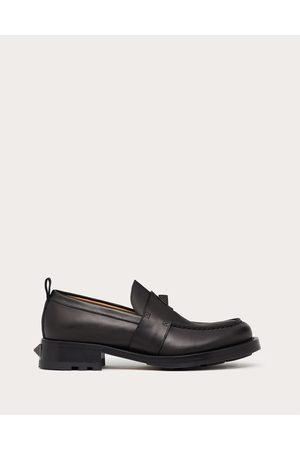 VALENTINO GARAVANI Men Loafers - Roman Stud Calfskin Loafer Man 100% Pelle Di Vitello - Bos Taurus 41