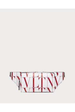 VALENTINO GARAVANI Men Bags - Vltn Times Leather Belt Bag Man Optic /pure 100% Pelle Bovina - Bos Taurus OneSize