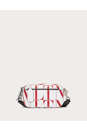 VALENTINO GARAVANI Men Bags - Small Vltn Times Leather Crossbody Bag Man Optic /pure 100% Pelle Bovina - Bos Taurus OneSize