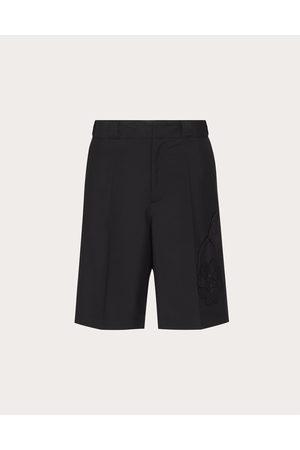 VALENTINO Men Bermudas - Men's Garden Mohair Wool Bermuda Shorts Man Mohair 16%, Wool 84% 48