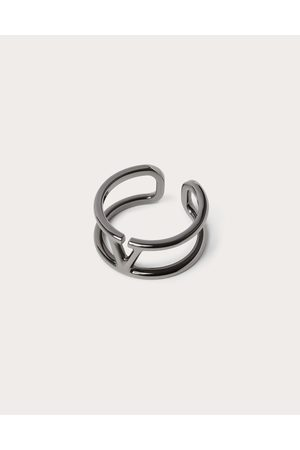 VALENTINO GARAVANI Men Rings - Vlogo Signature Metal Ring Man Lead Brass 100% 19