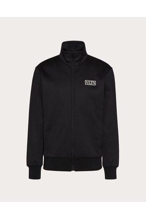 VALENTINO Men Sweatshirts - Vltn Tag Technical Cotton Sweatshirt Man Cotton 45%, Polyester 55% L