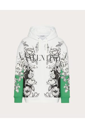 VALENTINO Men Sweatshirts - Cotton Sweatshirt With Dark Blooming Print Man / Cotton 100% 3XL