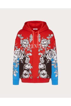 VALENTINO Men Sweatshirts - Cotton Sweatshirt With Dark Blooming Print Man / Cotton 100% L