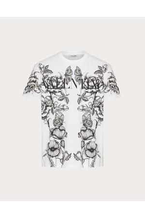VALENTINO Men T-shirts - Cotton T-shirt With Dark Blooming Print Man / Cotton 100% L