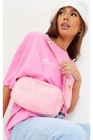 PRETTYLITTLETHING Women Purses - Signature Velour Multi Pocket Cross Body Bag