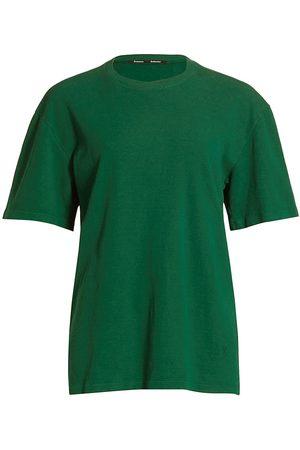 Proenza Schouler Women's Cutout Eco Cotton-Blend T-Shirt - Dark - Size Medium