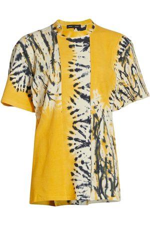 Proenza Schouler Women's Cutout Tie-Dye Panel T-Shirt - Multi - Size Small