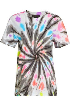 Myrrhe Women's Rainbow Tie-Dye T-Shirt - Rainbow - Size Medium