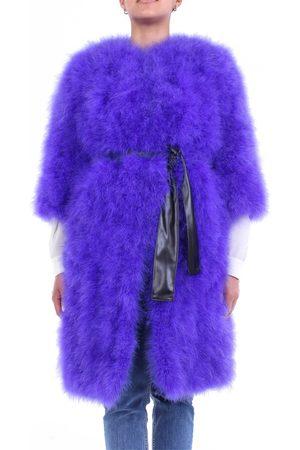 SIMONA CORSELLINI Women Coats - Fur coats Women Violet