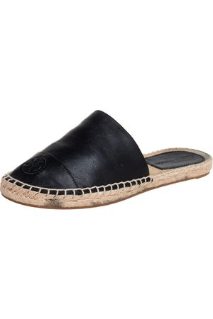 Tory Burch Women Espadrilles - Leather Espadrille Sandals Size 37