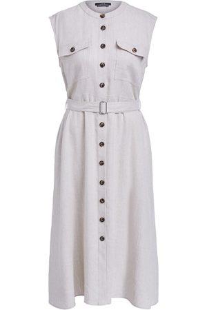 SET SET Linen Blend Shirt Dress - Light Stone