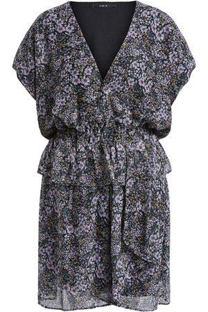 SET SET Lurex Floral Dress - Black Violet