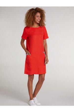Oui Fiery Red Diamante Pocket T-Shirt Dress 73323 3584