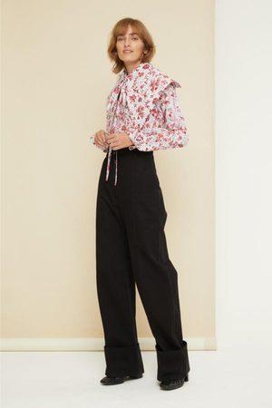 Patoo Women Wide Leg - Cuffed Wide Leg Trousers