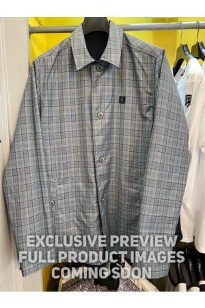 Gabicci Chameleon Navy & Grey Plaid Check Reversible Coat