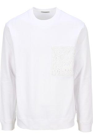 VALENTINO Crew-neck cotton sweatshirt with macram pocket
