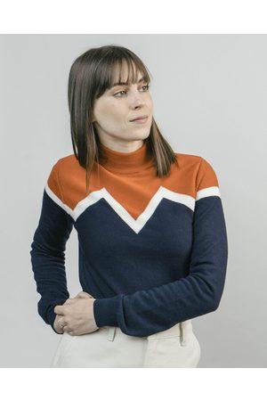 Brava Fabrics Winter Peak Pullover Orange Neck