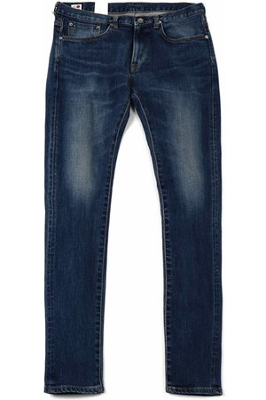 Edwin Jeans Slim Tapered Kaihara Selvedge Denim - Mid Used Colour: Mid Used
