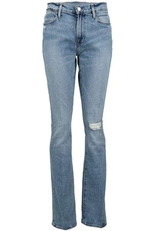 Frame Le High Flare Crystal Shores Rips Jean