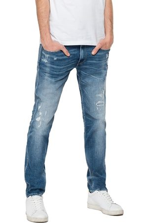 Replay Anbass Slim Fit Jeans - Aged Eco 10 Year Mid Rip & Repair