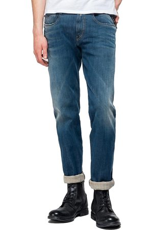 Replay Hyperflex+ Anbass Slim Jeans - Dirty Stonewash