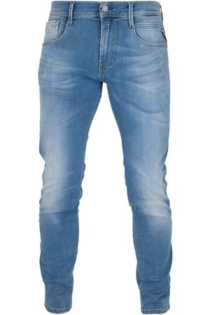 Replay Hyperflex Anbass Laserblast Edition Slim Fit Jeans - Mid