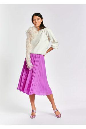 Essentiel Zalerie Plisse midi skirt lilac