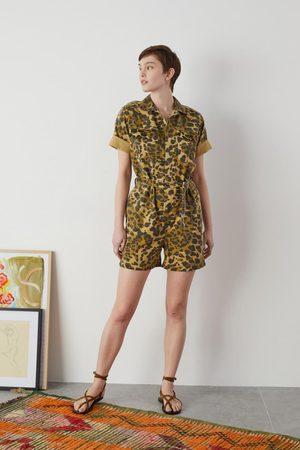 Leon & Harper Honey Leopard Print Jumpsuit