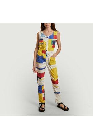 G.KERO Minimal Geometry Pantsuit Multicolor