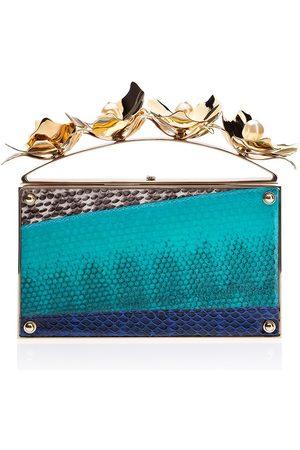 Golden Orchid Evening Bag: Designer Clutch