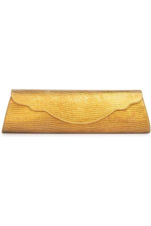 THALÈ BLANC Baguette Lizard Evening Bag: Gold Designer Clutch