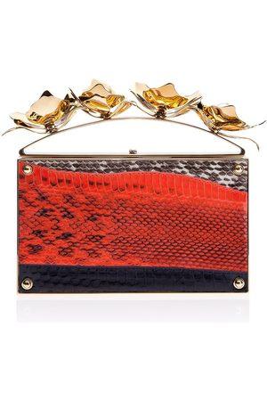 THALÈ BLANC Golden Orchid Evening Bag: Designer Clutch