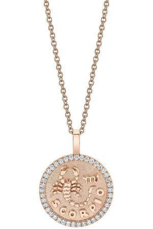 Anita Diamond Frame Scorpio Pendant Necklace