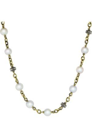 Sylva & Cie Akoya Pearl Diamond Bead Necklace