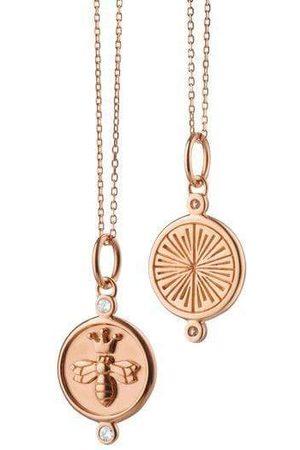 Monica Rich Kosann Diamond Queen Bee Necklace