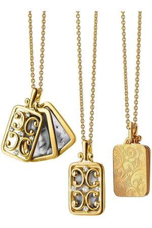 Monica Rich Kosann Women Necklaces - Gate Frame Diamond Locket Necklace