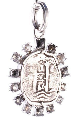 Sylva & Cie Shipwreck Coin Rough Cut Diamond Pendant