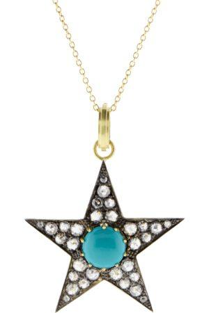 Sylva & Cie Large Turquoise Star Pendant