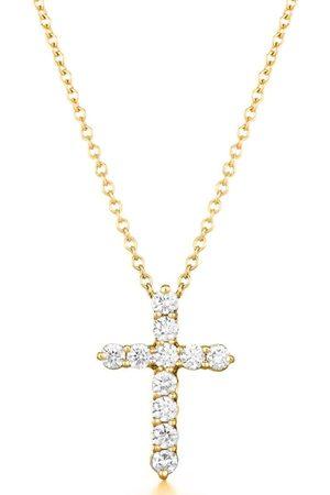 Kwiat Yellow Diamond Cross Necklace