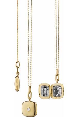 Monica Rich Kosann Cushion Viv Locket with Diamond Necklace