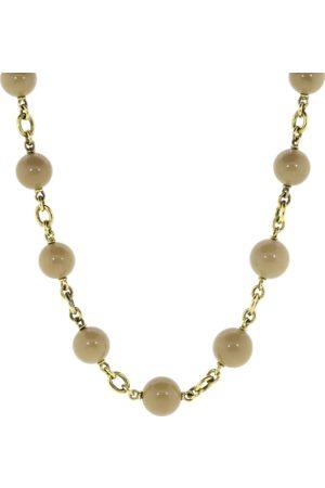 Sylva & Cie Sea Bamboo Bead Necklace