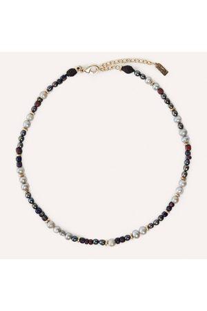 Akola Yuzu Beaded Necklace with Pearl & Glass